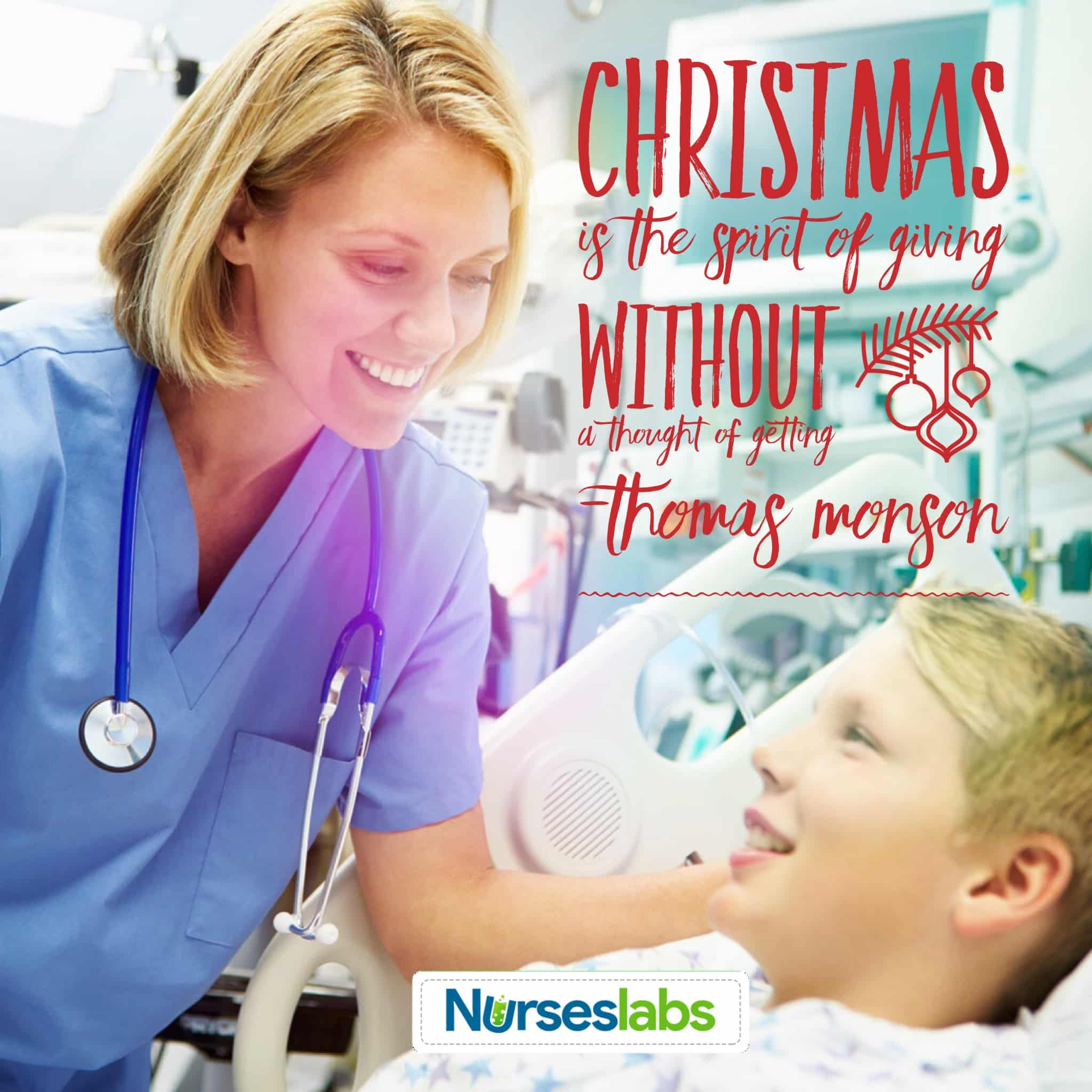 Christmas nursing quote