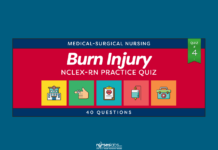 Burn Injury Nursing Management NCLEX Practice Quiz #4 (40 Questions)
