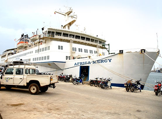 Africa-Mercy-hospital-ship-in-port