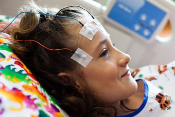 Evaluating a child's brain activity and behavioral activity via EEG | CHOC Children's