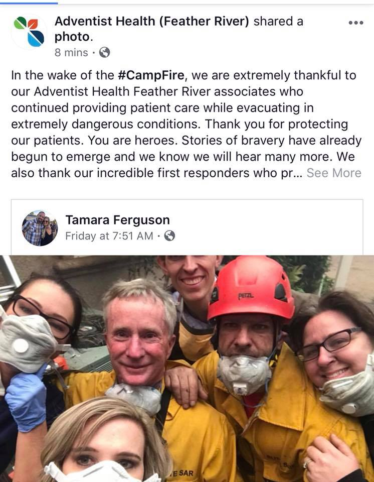 Nurses at the California Wildfires