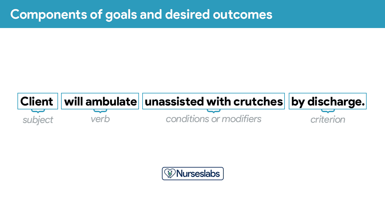 Components of goals and desired outcomes
