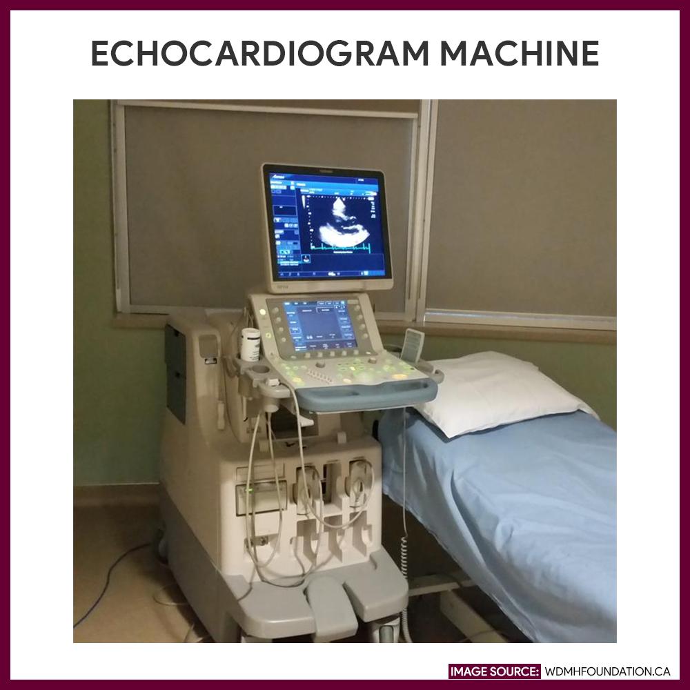 Machine used for an echocardiogram.
