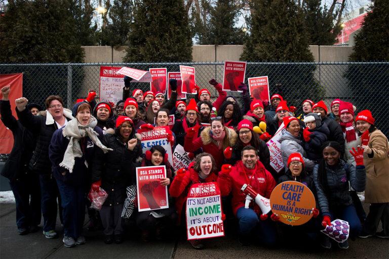 New York State Nurses Association on Strike