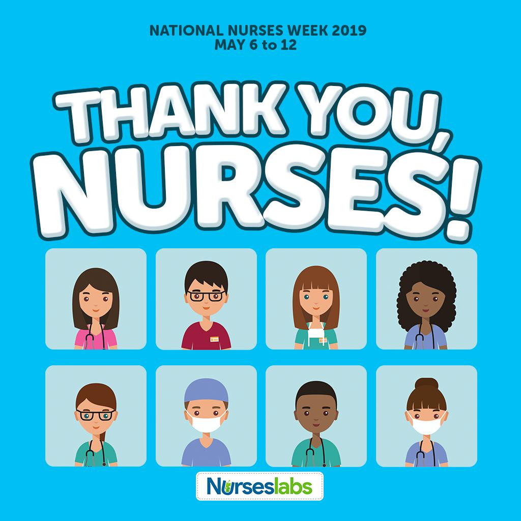 Thank You Nurses - Blue