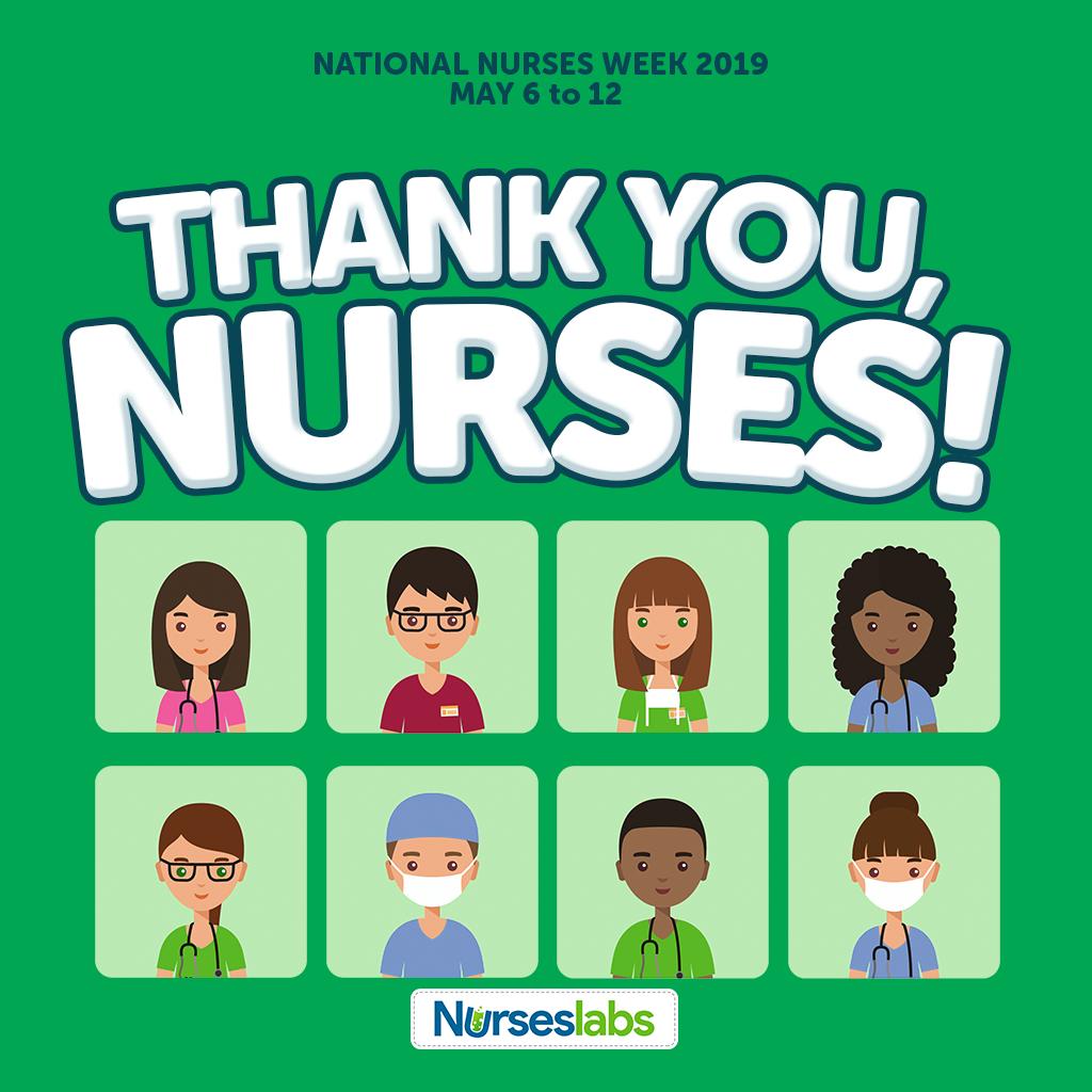 Thank You Nurses - Green