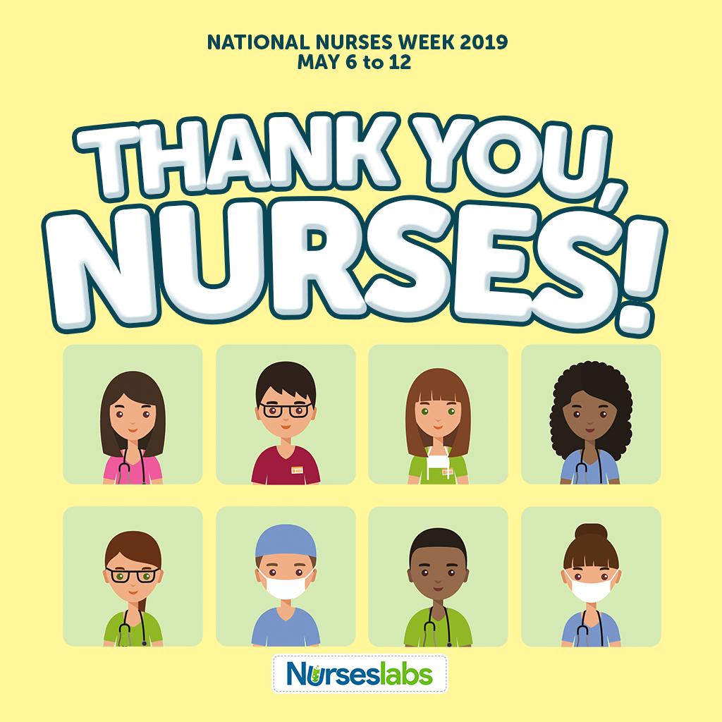 Thank You Nurses - Yellow