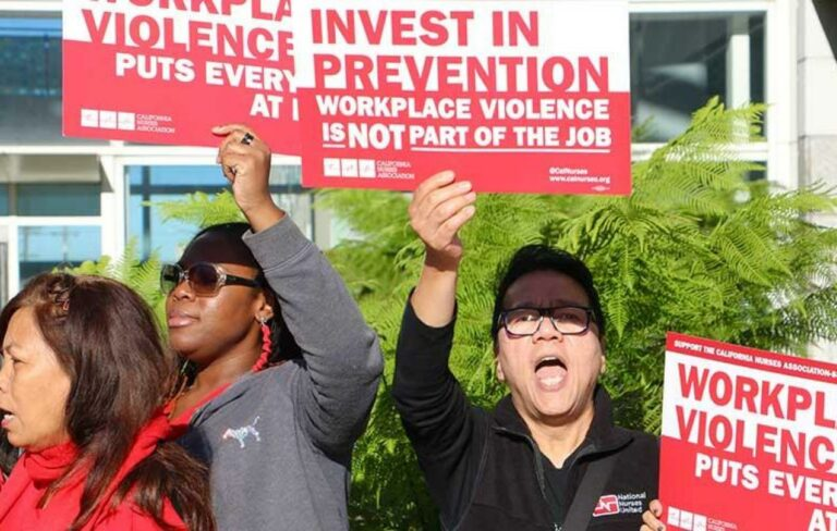 Members of the National Nurses United for H.R.1309. Image via: uswlocals.org