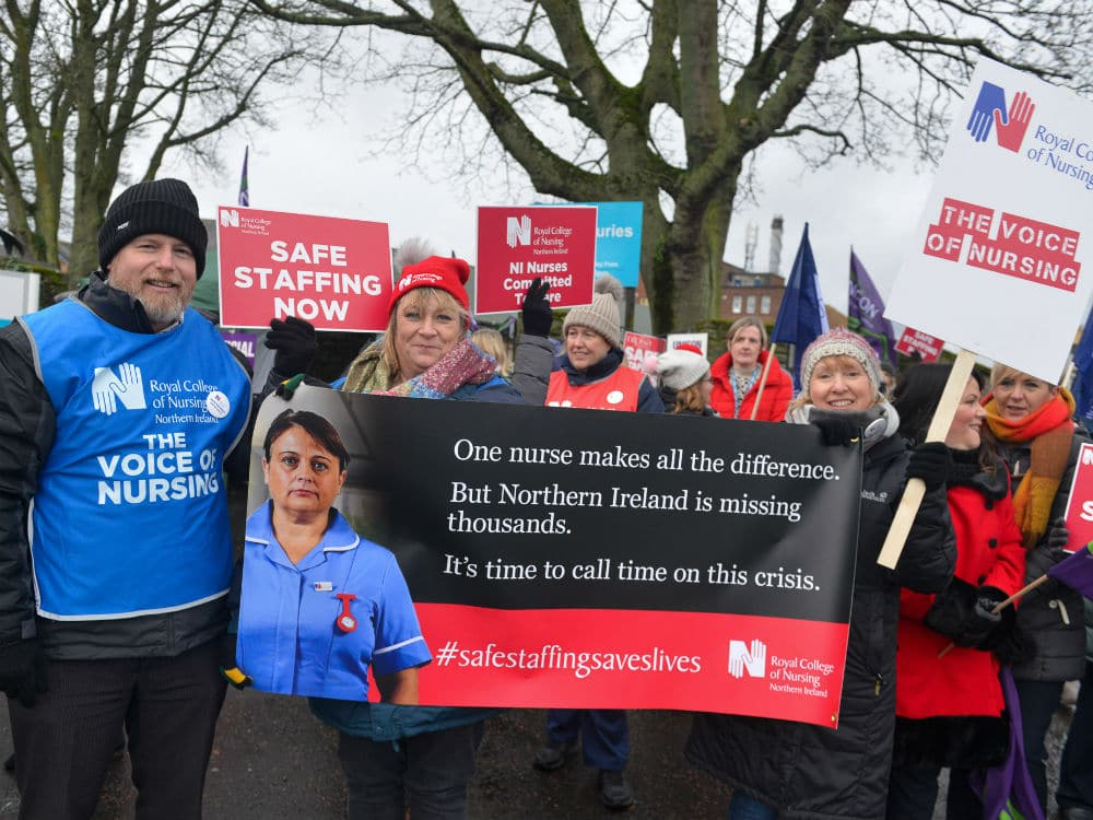 Northern Ireland nurses on strike. Image via: RCN.org.uk