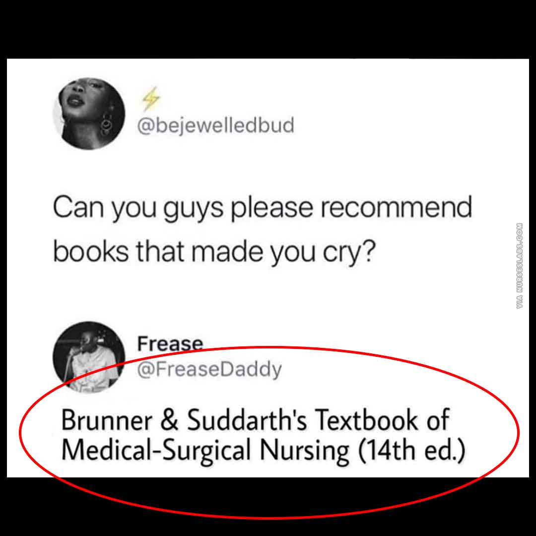 Nursing School Memes: Medical Surgical Nursing Book Meme