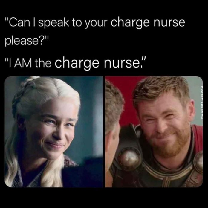 Charge Nurse Meme vs Karen