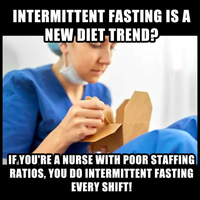 Intermittent Fasting Nurse Meme