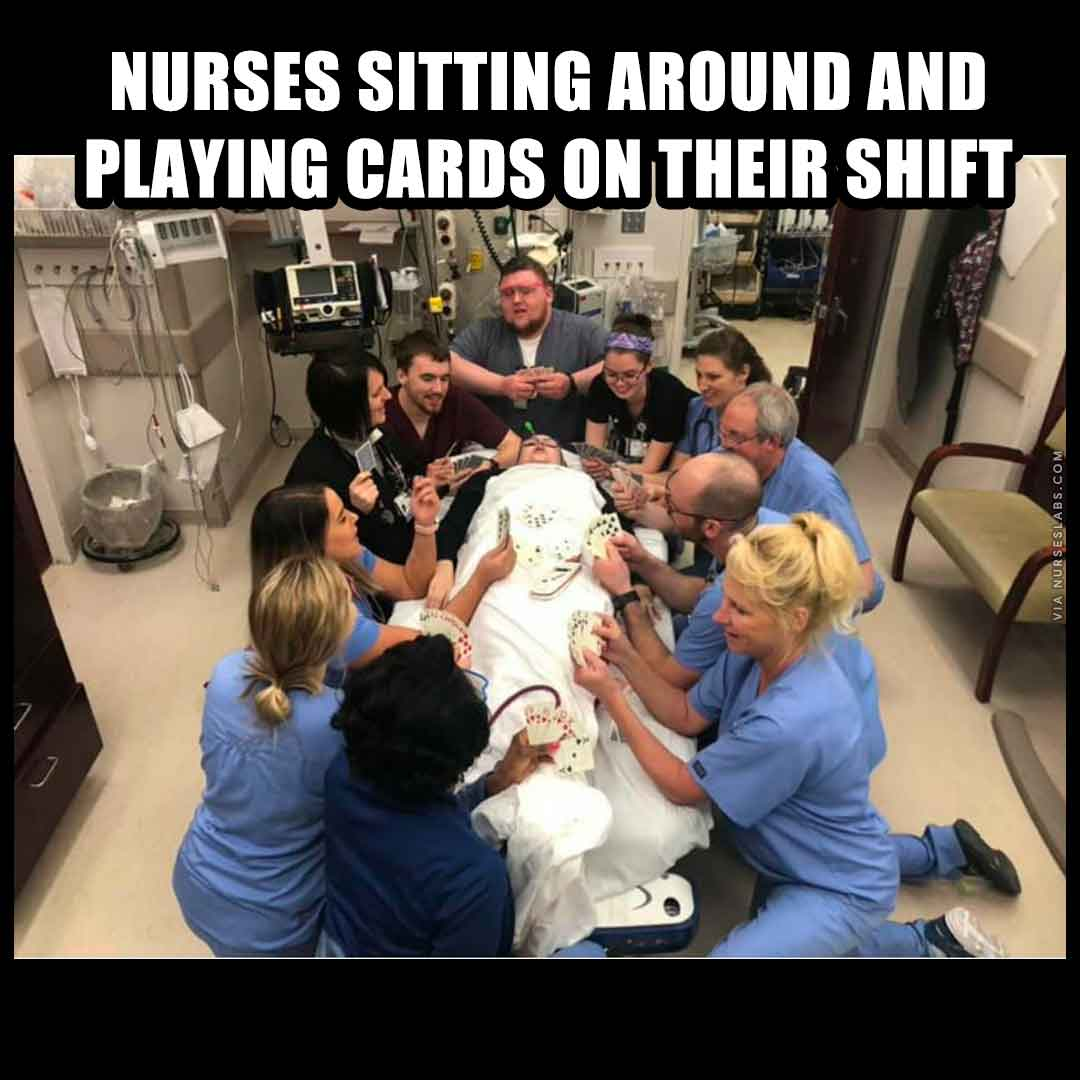 Nurses Playing Card Meme: