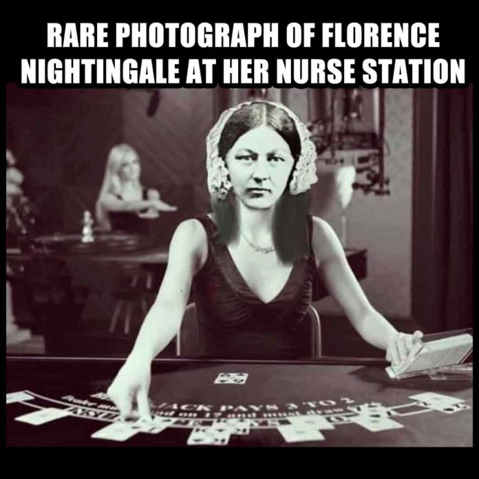 Nurses Playing Card Meme: Florence Nightingale Edition